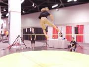 Slackline Flying Tricks At Ideaworld 2014