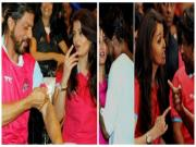 Aishwarya Rai Bachchan Shahrukh Khan Connect At Pro Kabbadi League 2014