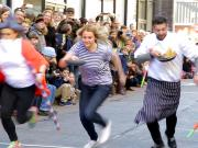 Flipping Good Time At Annual Pancake Race