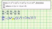 Chain Rule Function Of Two Variables With Three Independent Variable