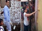 Salman Khan And Kareena Kapoor Paint An Entire Village