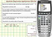 Quadratic Regression Application Solved Using The Ti 84