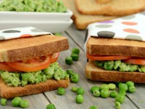 Green Peas Sandwich Healthy Kids Recipe By Tarla Dalal