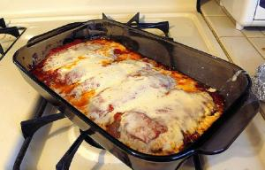 Microwave Veal Parmigiano