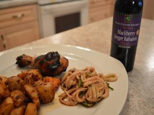 How To Make Napa Valley Blackberry Ginger Balsamic Curly Cucumber Salad