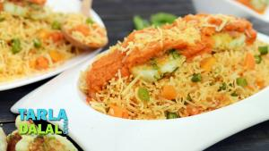 Baked Mexican Rice With Cheese Patties 1017244 By Tarladalal