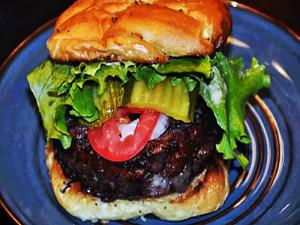 Kirbbq Rubbed Beef Pork Stuffed Burgers