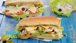 Veg Sub Sandwich 1017239 By Tarladalal