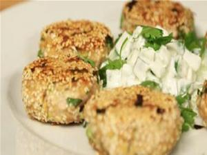 Tuna Cakes With Wasabi Yoghurt