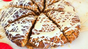 Breakfast Recipe Frosted Gingerbread Scones 1019564 By C 4 Bimbos