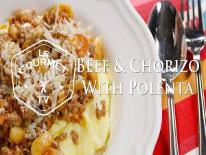 Beef And Chorizo Stew With Polenta