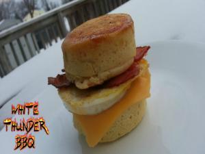 Maple Pancake Breakfast Sandwich