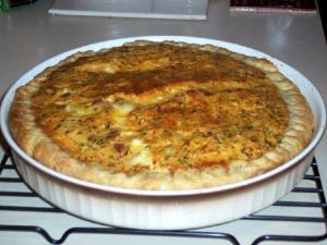 Cheddar Cauliflower Quiche