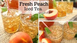 How To Make Fresh Peach Iced Tea 1018118 By Divascancook