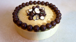 Caramel Malteser Ice Cream Cake 3 Ingredients