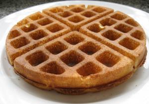 Gingery Banana Waffles