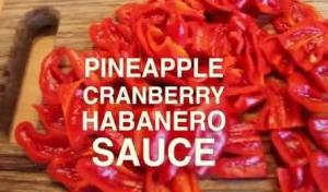 Pineapple Cranberry Habanero Sauce