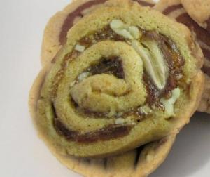 Butterscotch Brownie Pinwheels