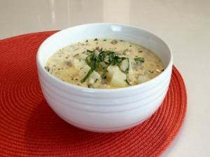 Brittany Allyn Savor The Flavors Cheesy Potato Sausage Soup