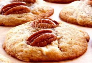 Pecan Topped Sugar Cookies