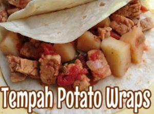 Tempeh Potato Wraps