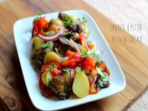 Smoked Oyster Potato Salad Stevescooking