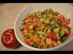 How To Make Red Plum Tomato And Cucumber Salsa 1015006 By Cookingwithkimberly
