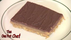 Chocolate Peanut Butter Slice One Pot Chef
