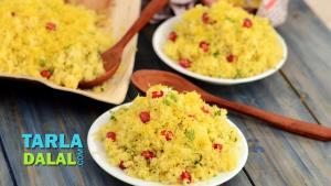 Amiri Khaman Quick And Simple Gujarati Sev Khamani Recipe 1015273 By Tarladalal