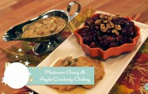 Vegan Mushroom Gravy And Cranberry Chutney 1019403 By Healthyvoyager