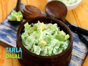 Green Salad With Honey Curd Dressing