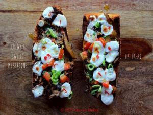 Mushroom On Bread