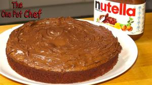3 Ingredient Nutella Fudge Cake