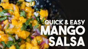 Quick Mango Salsa 1017084 By Kravingsblog