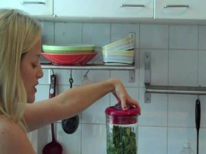 How To Make Cleansing Green Juice With A Blender And Tracy