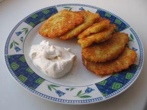 Oven Baked Potato Pancakes