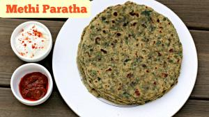 Methi Paratha Indian Breakfast Lunch Box Recipe 1019930 By Sruthiskitchen