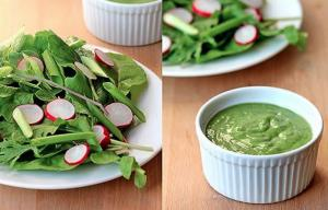 Basil Green Goddess Salad Dressing