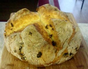 Whole Wheat Currant Soda Bread