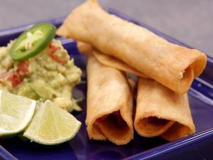 Chicken Flautas And Guacamole