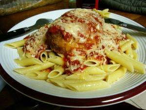 Microwaved Chicken Parmesan