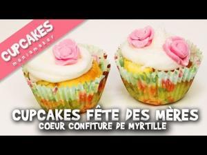Cupcakes Fte Des Mres Au Cur Confiture De Myrtille 1019043 By Cupcakesmaniamaker
