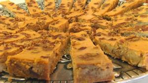 Bettys Pumpkin Cheesecake Bars 1018127 By Tarladalal