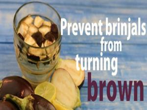 Prevent Brinjals From Turning Brown By Tarla Dalal