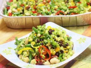 Rainbow Magic Beans Salad