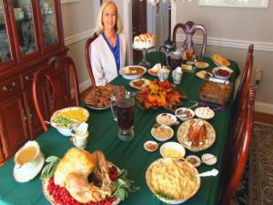 Bettys Thanksgiving Dinner Table 2014