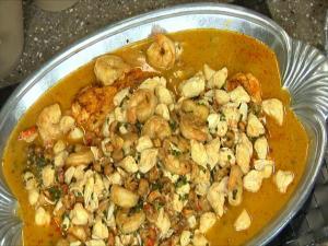 Sauteed Seafood Platter Creole Style