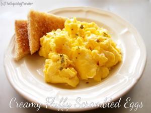 Creamy Fluffy Scrambled Eggs
