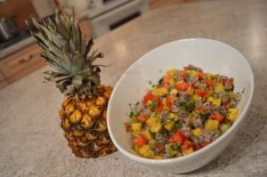 How To Make Dragon Fruit Tomato And Pineapple Salsa 1016534 By Cookingwithkimberly