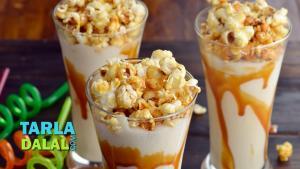 Caramel Popcorn Milkshake 1019704 By Tarladalal